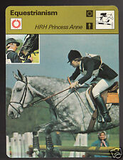 HRH PRINCESS ANNE Equestrianism Horse Show Jumping 1979 SPORTSCASTER CARD 70-12