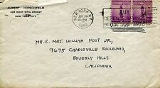 AL HIRSCHFELD mailing envelope addressed by him in 1942       AWESOME+VERY RARE