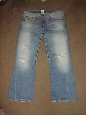 TRUE RELIGION Men's JOEY SUPER T 36 x 31 Light Wasteland Yellow Stitch TR Jeans