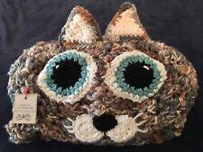 Crocheted Hooded Cat Blanket