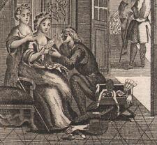 1770 Lot de 3 Gravures originales scènes de moeurs noblesse mode galanterie