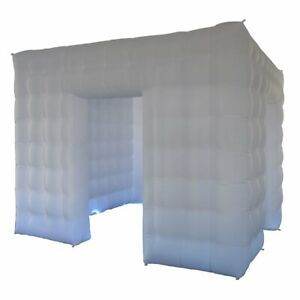 10x10x8.2ft Cube LED Inflatable Photo Booth Tent LED Booth with Blower for Event