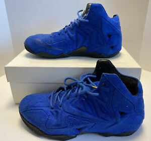 """Nike LeBron XI EXT """"Blue Suede"""" - LBJ, The King, size 8.5 656274 440"""