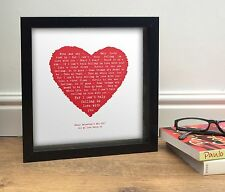 More details for elvis - i can't help falling in love valentines day gift idea song words heart