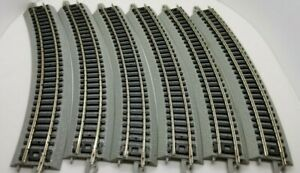 "N Scale Bachmann 11.75"" Radius Curved Nickel Silver E-Z Track (6) pcs"