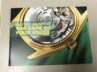 "Original Rolex ""Factory Service The Care of Your Rolex"" Booklet!"