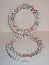 4 x Staffordshire Tableware Floral Design Ceramic Side Cake Tea Plates - Lovely