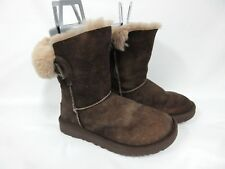 UGG Australia Women's Nash Genuine Shearling Boot chocolate suede 1013491 Size 6