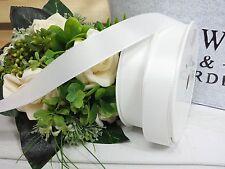 (0,38€/m) 3m Schleifenband weiß f.Antennenschleifen Hochzeit Standartband 25mm