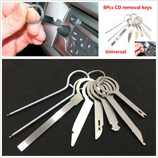8Pcs Universal Car Stereo GPS Audio CD Radio Head Unit Release Removal Keys Tool