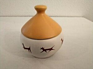 Vintage Unipet Treat Bowl With Bell Lid - Upjohn - Harvest Gold