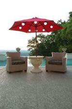 8 Globe Bright White LED SOLAR Powered Umbrella Lights