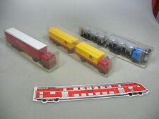 ai87-0, 5 # 3x WIKING H0 articulado Tren de carretera MERCEDES MB: 575+541+455