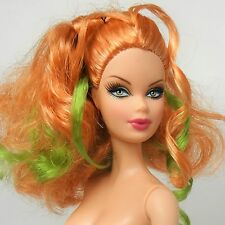 Barbie Summer Doll Top Model Muse Steffi face Blonde Green strands Nude