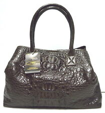 100% GENUINE CROCODILE LEATHER HANDBAG BAG TOTE HOBO EXTRA LARGE HUGE BROWN