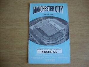 1959/60 Manchester City v Arsenal - Football League Division 1