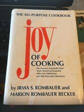 The Joy of Cooking Cookbook Irma S and Marion Rombauer Becker HC DJ 1985