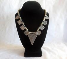 Antique African Tribal Jewelry Ethiopian Telsum Amulet Prayer Box Bead Necklace