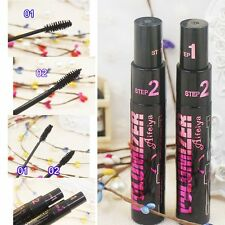 Tool Cosmetic Curling 3d Fiber Black Mascara Eyelash Cream 2 in 1 Long Lasting
