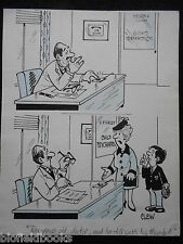 """Clifford C Lewis """"angolo di scotta"""" Originale Penna E Inchiostro CARTONE ANIMATO-Psichiatra Pollice #7"""