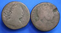 1690? William III & Mary halfpenny & other ½d coin *[20138]