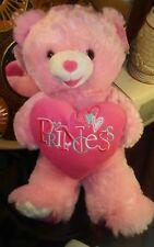 "Dan Dee 2014 Teddy Bear Princess Pink White 22"" Sweetheart Teddy w/ Tags"