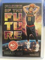 2018-19 Panini NBA Hoops Trae Young RC Rookie Faces Of The Future Atlanta Hawks!
