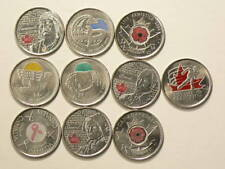 Canada Colorized 25 Cents Lot of 10 Different #2591