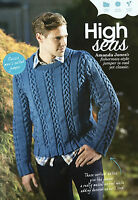 KNITTING PATTERN Mens Fisherman Style Jumper Cable Round Neck Sweater Cygnet