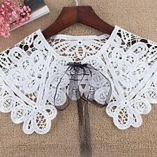 Fashion Women Lace Hollow Out Women Blouse Fake Collar Shirt Detachable Collars