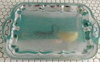Vintage Stainless Steel Serving Tray Platter