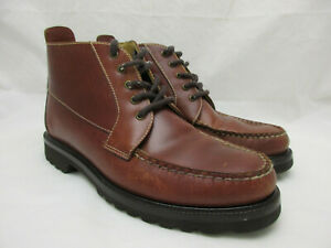 Orvis Brown Leather Chukka Ankle Boots Men's Size 7 Vibram Gumlite Soles