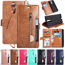 For HUAWEI P20 P30 Mate20 Pro PSmart+Y6/7 Magnet Card Zipper Wallet Leather Case