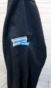 Blockbuster Media Employee Shirt Sz XL Black Long Sleeve Button Front