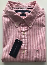 Tommy Hilfiger Pink/ White Stripe Classic Fit Gents Shirt Size Large BNWT