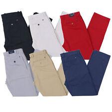 Tommy Hilfiger мужской Chino брюки индивидуальной подгонки плоскому переду низ флаг с логотипом новый новый с ценниками