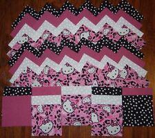 hello kitty cheetah toss  4x4 fabric squares~quilt blocks (20) kit/sewing