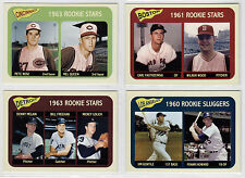 Lot of 4 rookie stars cards Pete Rose, Carl Yastrzemski, McLain, Gentile '61-63