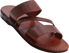 100% Leather  Roman Jesus Sandals Men Strap Handmade US (5-15) EU (36-49) Model9