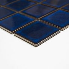 Quadrat uni kobaltblau glänzend Keramik Mosaik 5 mm Stark Bad Küche Dusche Sauna