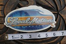LOCAL MOTION Hawaii Tube Wave Surfboards Vintage Surfing Decal STICKER