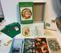 Lot of 33 Vintage Mixed Holiday Hallmark greeting Cards 2 Holiday USPS stamps