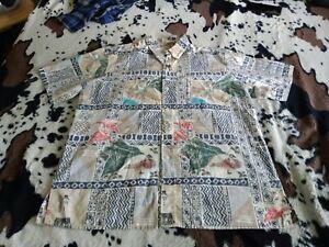 Reyn Spooner Mele Kalikimaka Christmas Print Hawaiian Shirt, XL REVERSE PATTERN