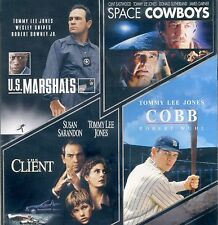 4 Film Favorites Tommy Lee Jones US Marshals Client Space Cowboys Cobb, new DVDs