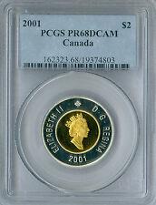 2001 CANADA SILVER $2 TOONIE PCGS PR-68 DCAM SPOTLESS .
