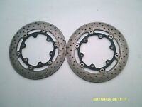 YAMAHA XJR 1300 2005 PAIR FRONT DISC BRAKE ROTORS