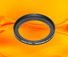37mm to 43mm 37-43 Stepping Step Up Filter Ring Adapter 37-43mm 37mm-43mm (UK)