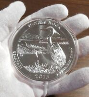2015 ATB Bombay Hook, Delaware uncirculated 5 troy oz, .999 pure DE