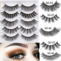 5Pairs 3D Faux Mink Hair False Eyelashes Extension Wispy Fluffy Think Lashes SAC