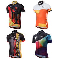 Men's Short Sleeve Biking Jersey Tops Bike Bicycle Cycling Jersey Shirts S-5XL